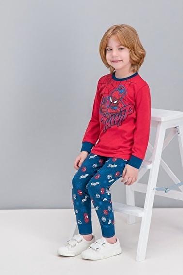 Spider-Man Spider Man Lisanslı Kırmızı Erkek Çocuk Pijama Takımı Kırmızı